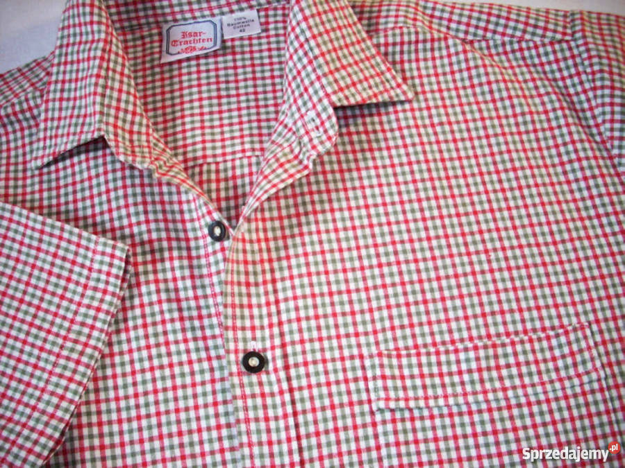 Super koszula Męska Khaki Czerwień J Nowa XL Nowy Sącz  ADIjo