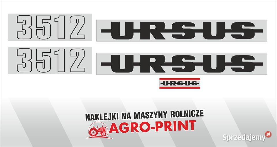 Naklejki URSUS 3512 i inne