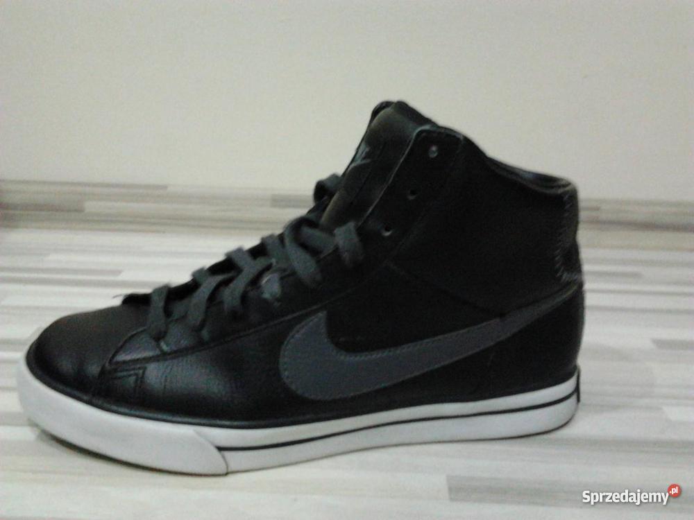 Buty Sportowe Z Nike Sweet Classic Skóra Czarne Szare Męskie