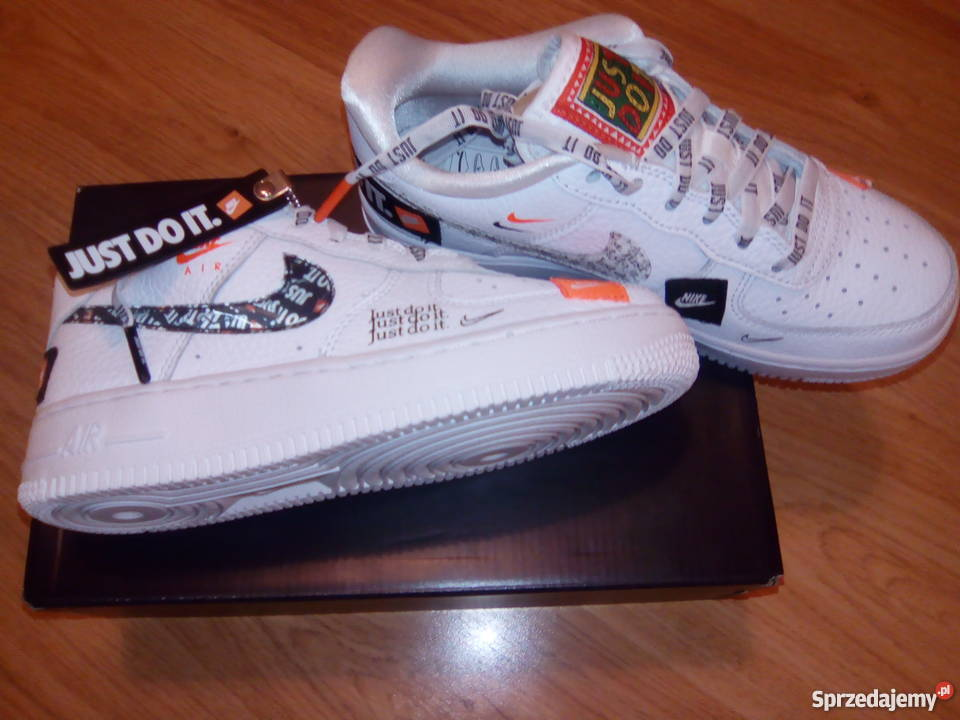 Nowe buty NIKE Air Force 1 '07 PRM 'JUST DO IT' rozmiar 35,5