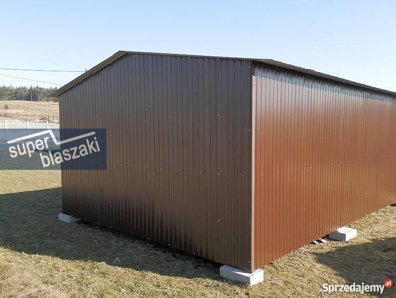 Garaż blaszany 4x6 8017 wzmocnione garaże blacha mazowieckie