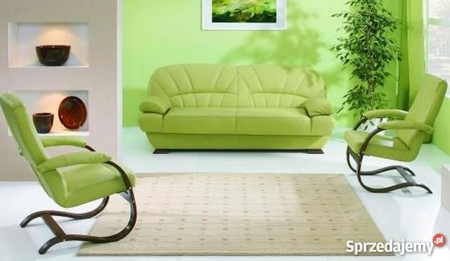 Kanapa sofa wersalka PORTO rozkładana naturalna skóra Łóżka, wersalki i sofy kujawsko-pomorskie Gniewkowo