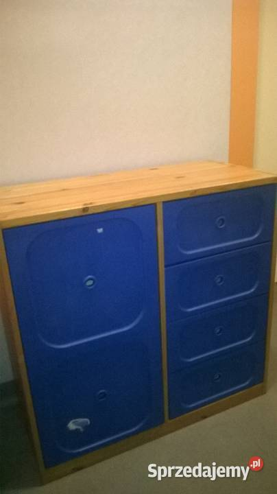 Regał IKEA Leksvik - drewno - HEMNES - szafki RTV IKEA-szafa