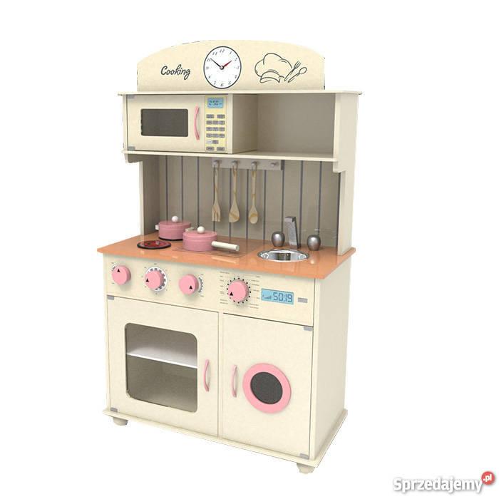 Drewniana Kuchnia Dla Dzieci Sofia Cream Nowość