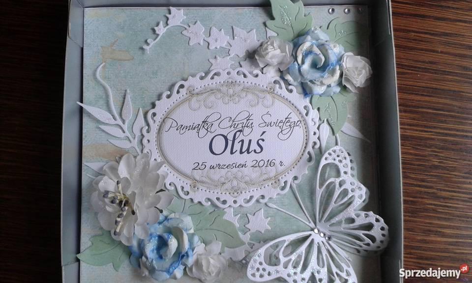 Świeże kartki ręcznie robione na chrzest, pamiatka Lipusz - Sprzedajemy.pl XI79