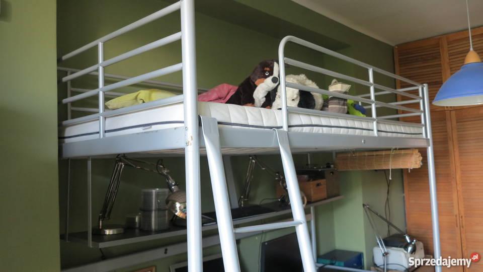 łóżko Piętrowe Ikea Tromso Biurko Materac Półka