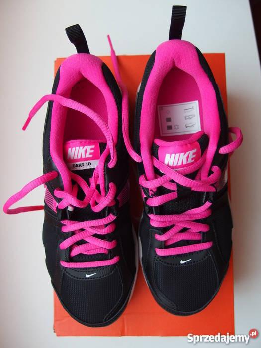 buty nike dart 10 czarno różowe ćwiczenia adidasy bieganie