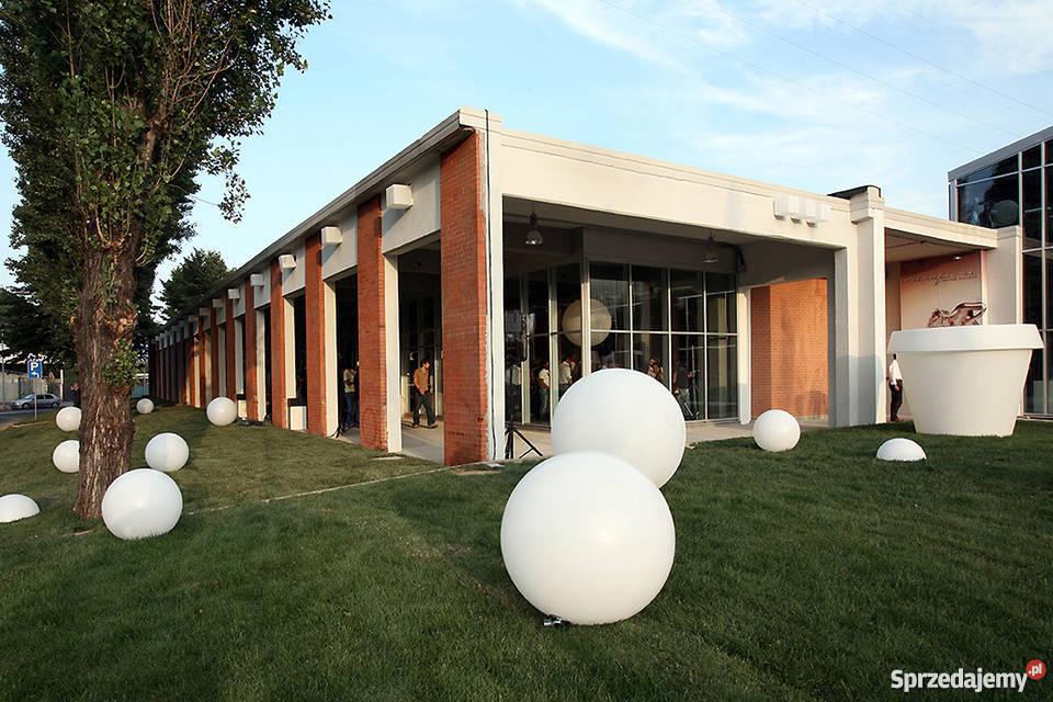 Duży zestaw kul ogrodowych świecących na biało Gierałtowice