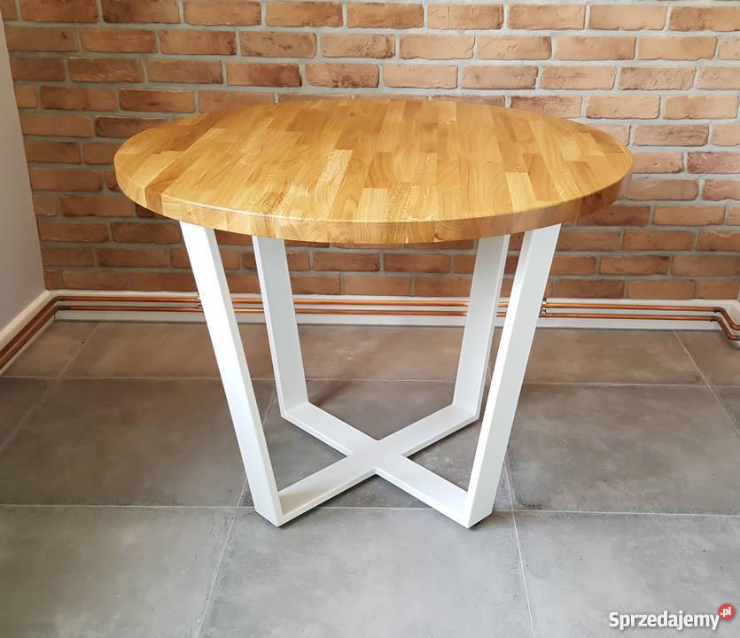 Bardzo dobryFantastyczny Nowoczesny stół dębowy okrągły LOFT Krosno - Sprzedajemy.pl AA28