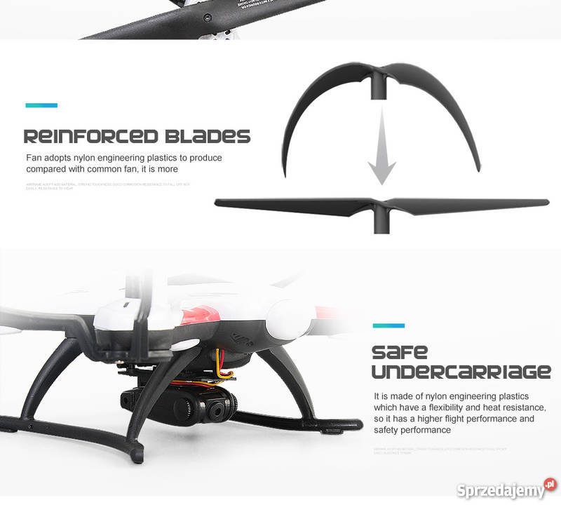 Dron JJRC H31 mega zestaw FPV dodatkowy Plastik  Zdalnie sterowane
