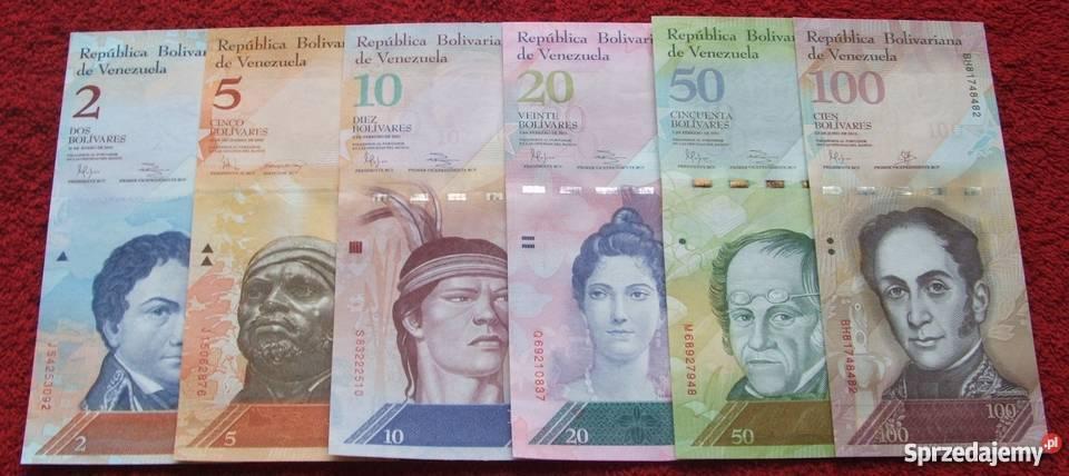 WENEZUELA Kolekcjonerskie Banknoty Zestaw 6
