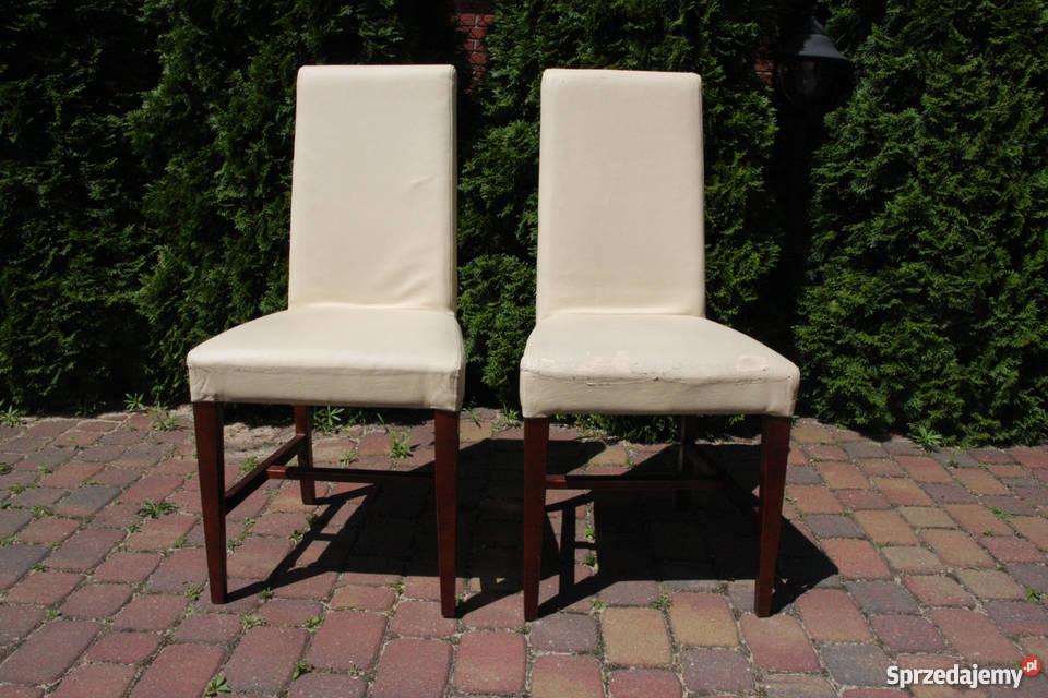 Krzesła Drewniane Z Obiciem I Pokrowcami