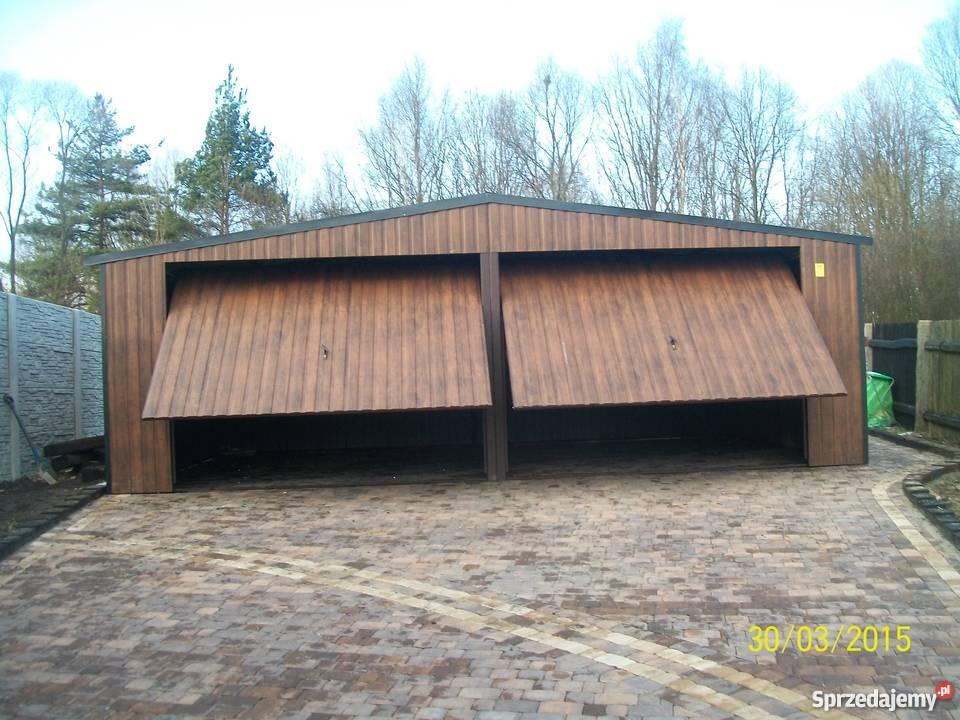 Cudowna garaż blaszany bramy garażowe wiaty garaze 7X5 WZMOCNIONY Limanowa ZP09