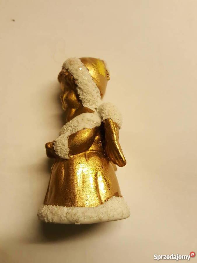 ANIOŁEK stojący figurka ozdoba święta Dekoracje i ozdoby Złotniki