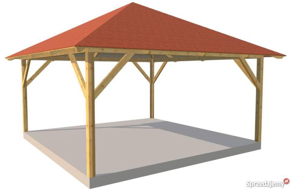 Altana Xxl Garaż Ogrodowa Wiata Drewniana Zadaszenie