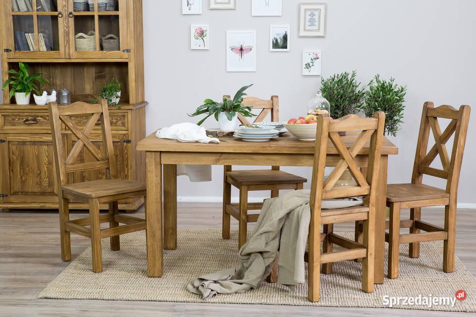 Stół drewniany woskowany MES13/A 140 x 80