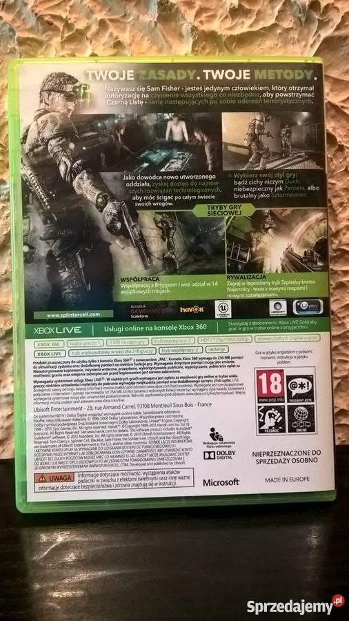 Splinter Cell Blacklist Xbox360 zachodniopomorskie Szczecin