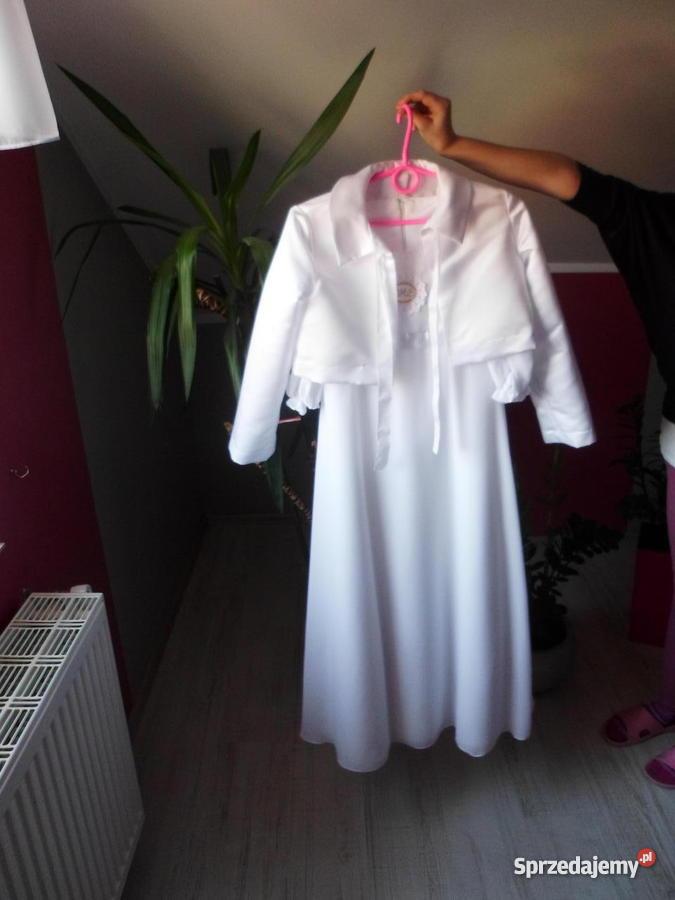 4f53525c44 Sukienka komunijna 100 z Parafii śwJacka biały Legnica sprzedam