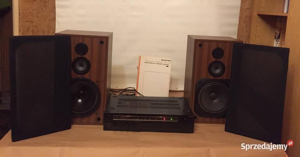"""Amplituner """"Unitra"""" Stereo Tosca 303,  Zestaw głośników  Uni"""