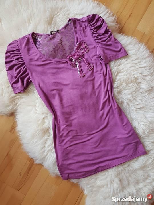 36f8f90101 Fioletowa tunika sukienka Bufki Koronka Odkryte podkarpackie Jasło