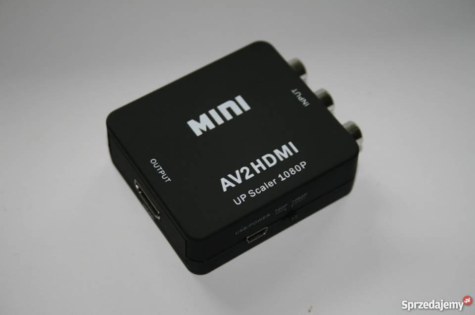 Konwerter AUDIO-VIDEO RCA (cinch) na HDMI