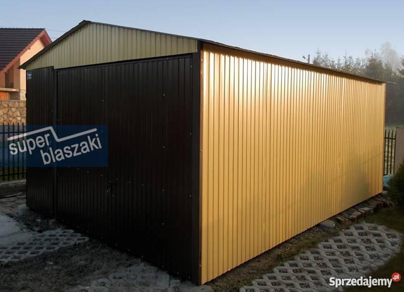 Garaż blaszany 4x6 8017 wzmocnione garaże mazowieckie Radom