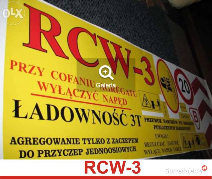 RCW RCW-3 naklejki rozsiewacz