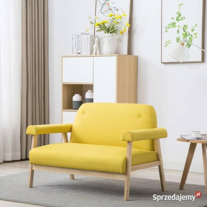 vidaXL Sofa 2-osobowa tapicerowana tkaniną, 246652