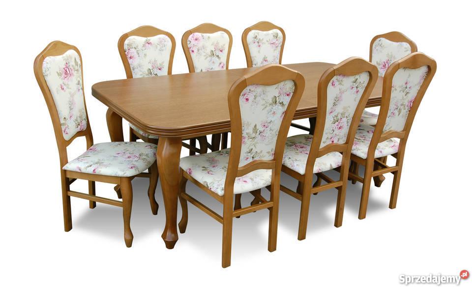 Stylowy Zestaw,Stół z 8 Krzesłami - Promocja!