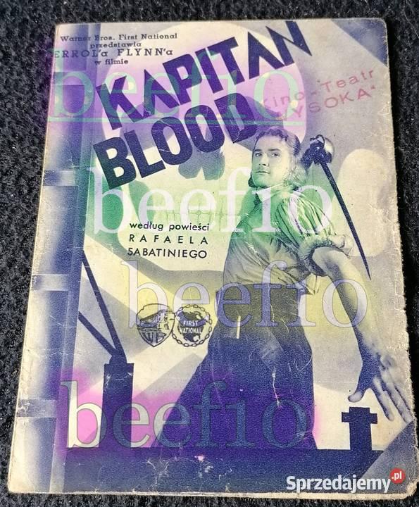 "Ulotka filmowa ""Kapitan Blood"" - oryginał."