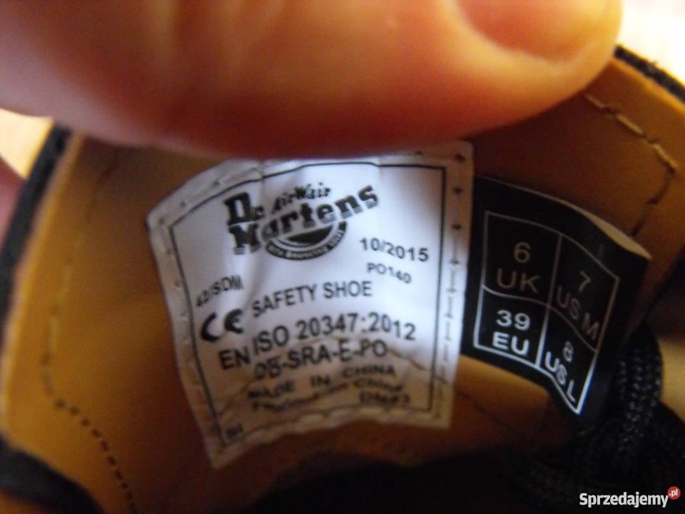 jakość gorąca wyprzedaż buty do separacji Dr. Martens Industrial UK6 39/40 25.5 cm buty Skóra* Nowe dr