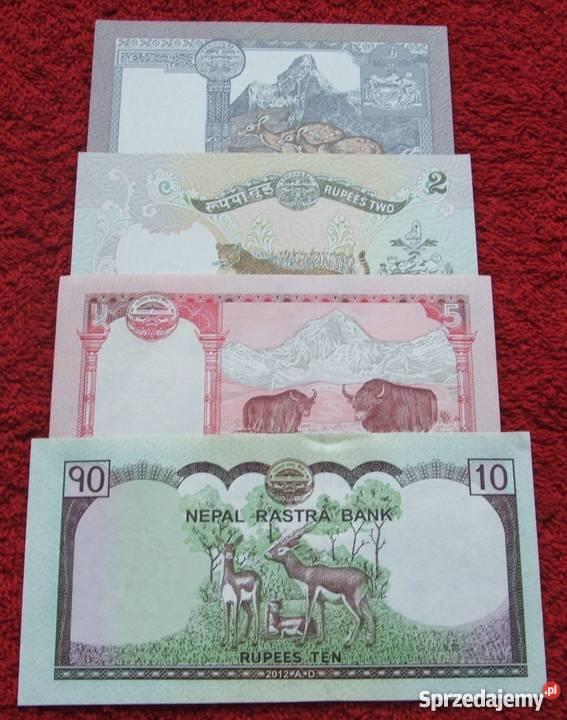 NEPAL Kolekcjonerskie Banknoty Zestaw 4 sztuki śląskie sprzedam