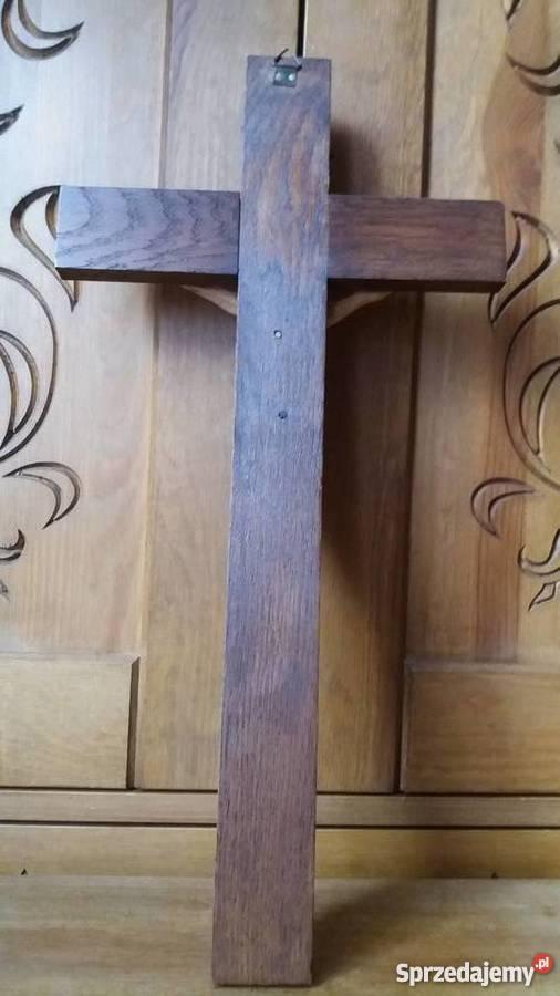 Rzeźba w drewnie krzyż drewniany dewocjonalia Lubień
