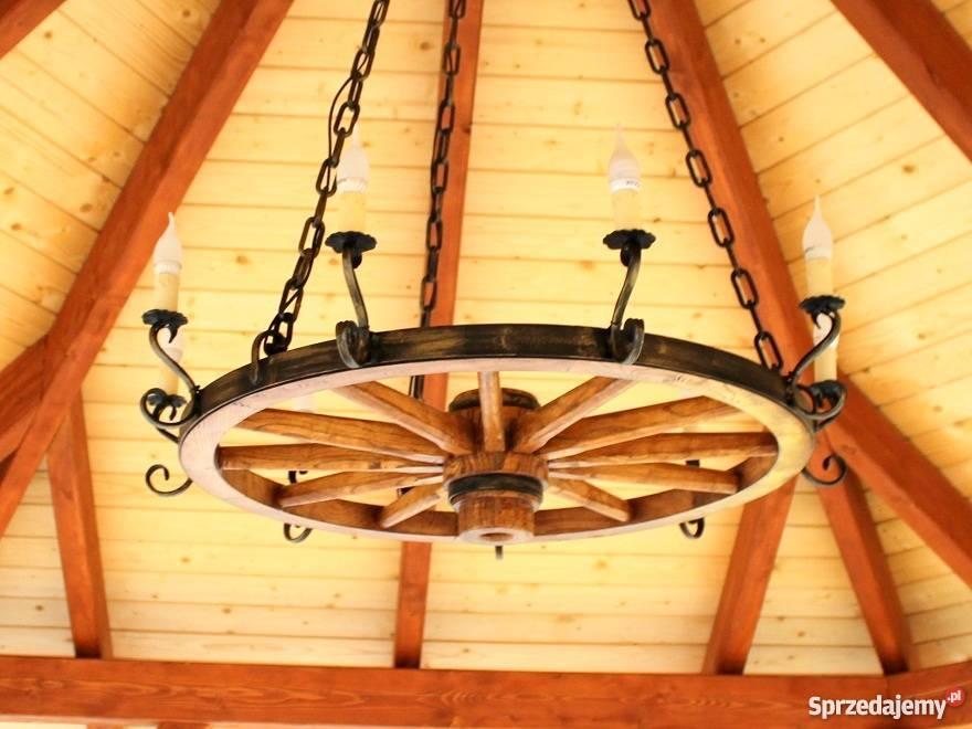 Duża lampa do restauracji, domu drewnianego, altany