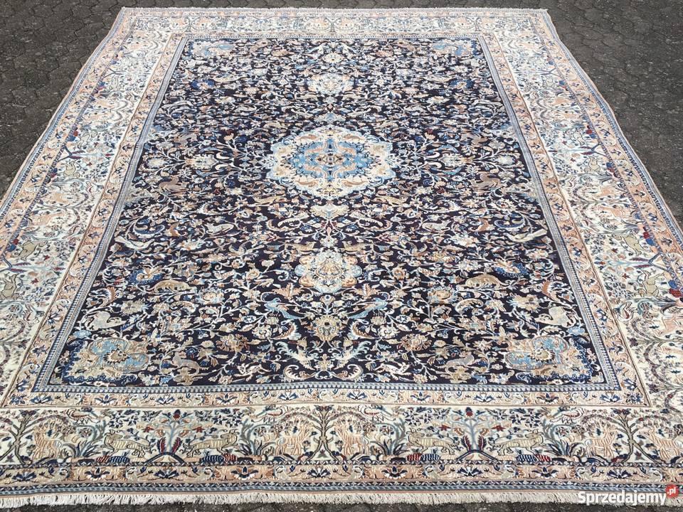 Oryginał Recznie tkany - Perski dywan NAIN 6La Shikari z jedwabiem Tuczno FU93