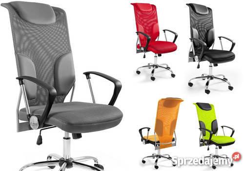 Krzesło Biurowe Obrotowe Tander Fotel Eko Skóra Z Poduszkami