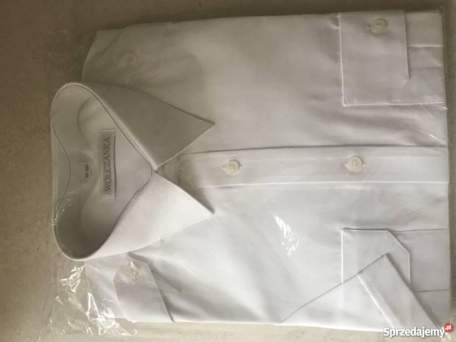 Koszula z pagonami krótki rękaw biała Wólczanka Jaworzno