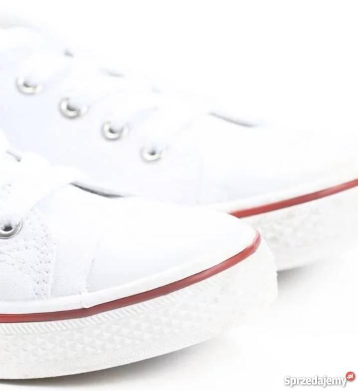 Białe trampki jak converse Różne rozmiary klasyka