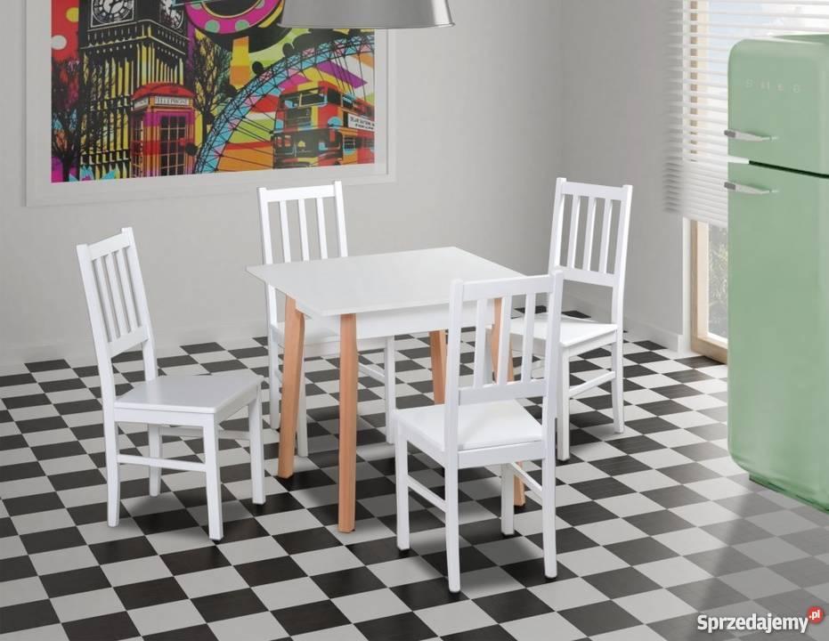 Mały stół 80/80 + 4 krzesła - Promocja!