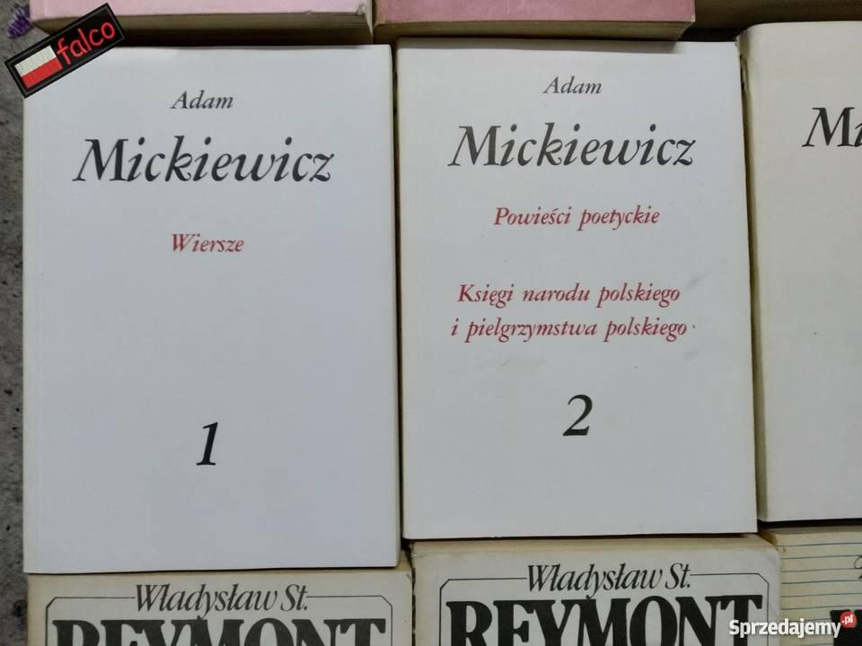 4x Mickiewicz Pan Tadeusz Wiersze Księgi Poezja Powieść Dram