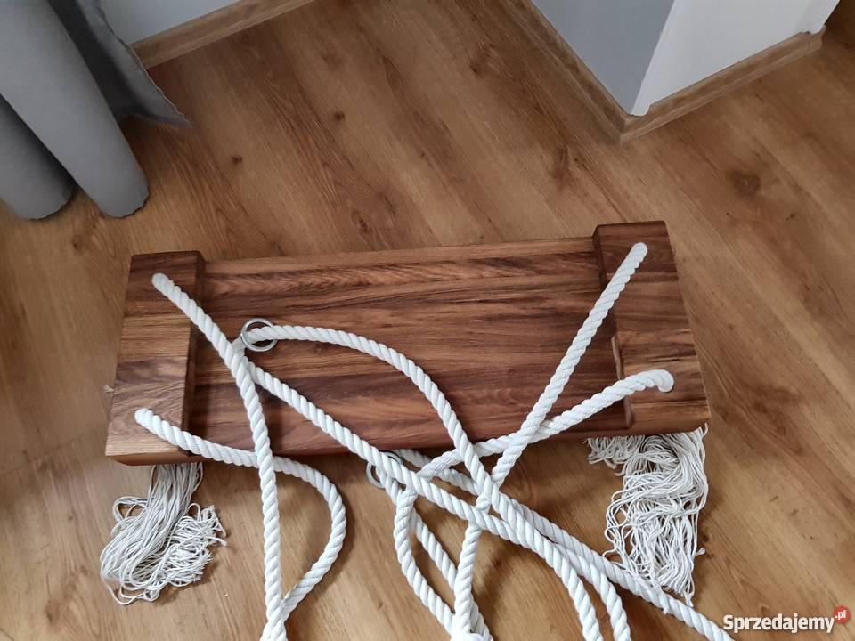 Huśtawka drewniana dębowa Cozy Scandinavian Loft Łódź sprzedam