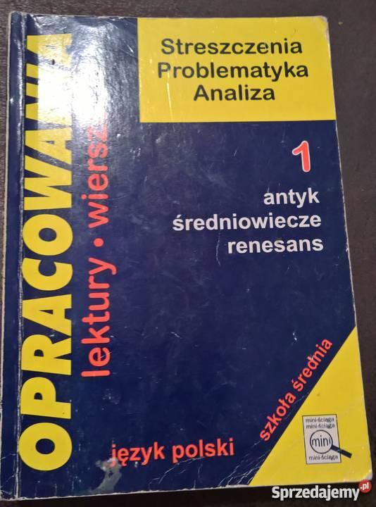 Streszczenia lektur Rok wydania 1991 Wrocław