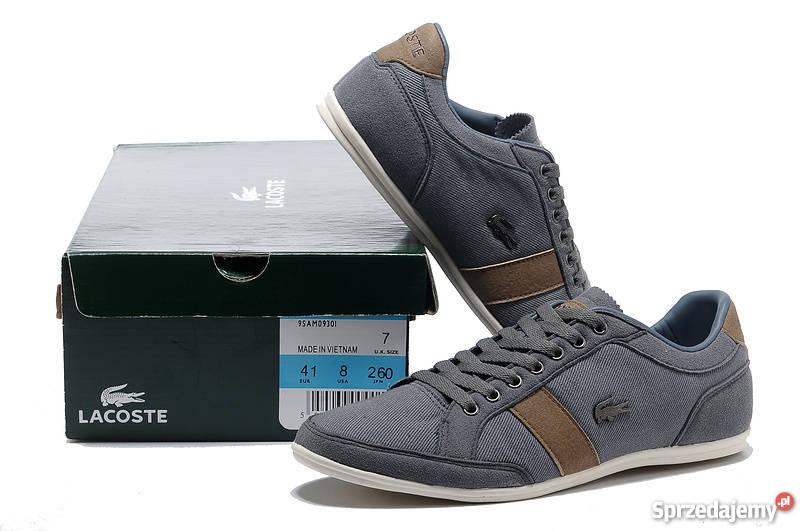 bc6c7bde Lacoste buty męskie szare 40 41 42 43 44 45 wys Rozmiar 44 śląskie Katowice