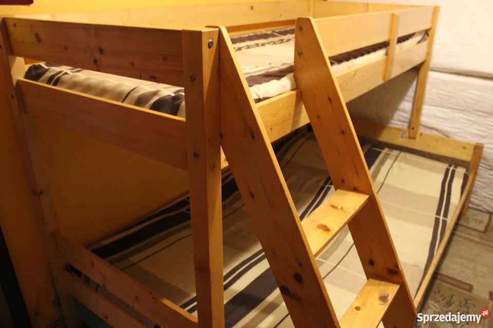 łóżko Piętrowe Trzyosobowe Z Szufladami Materace Biała Podlaska