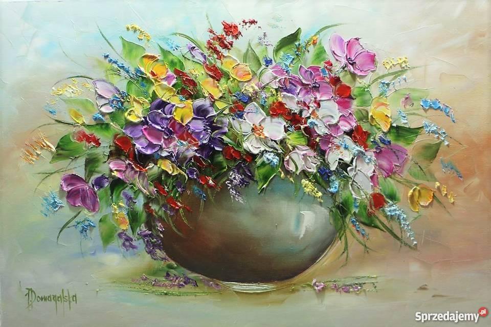 Joanna Domagalska Obraz Kwiaty Polne Faktura 40x60 żnin Sprzedajemypl