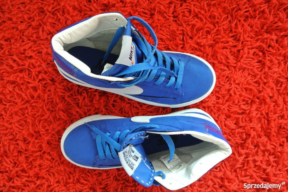 Nike 38.5 adidasy trampki niebieskie błękitne
