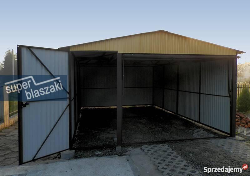 Garaż blaszany 4x6 8017 wzmocnione garaże Radom