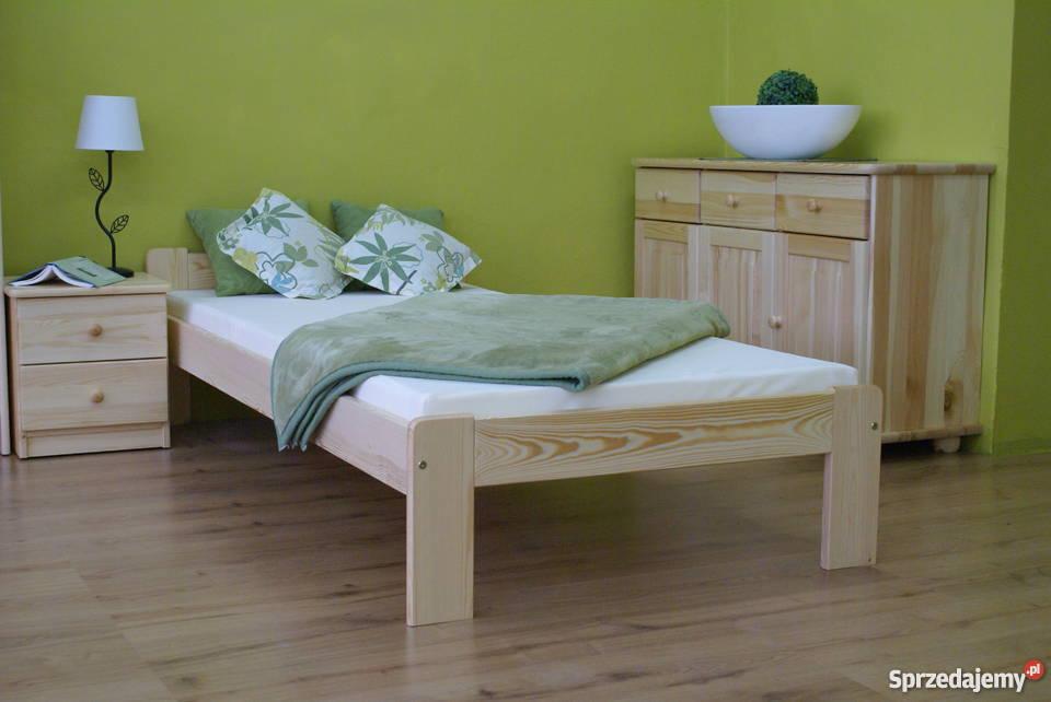 Młodzieńczy Łóżko Drewniane 80x200 cm Stelaż Materac + Prezent Wyprzedaż Tychy UA84