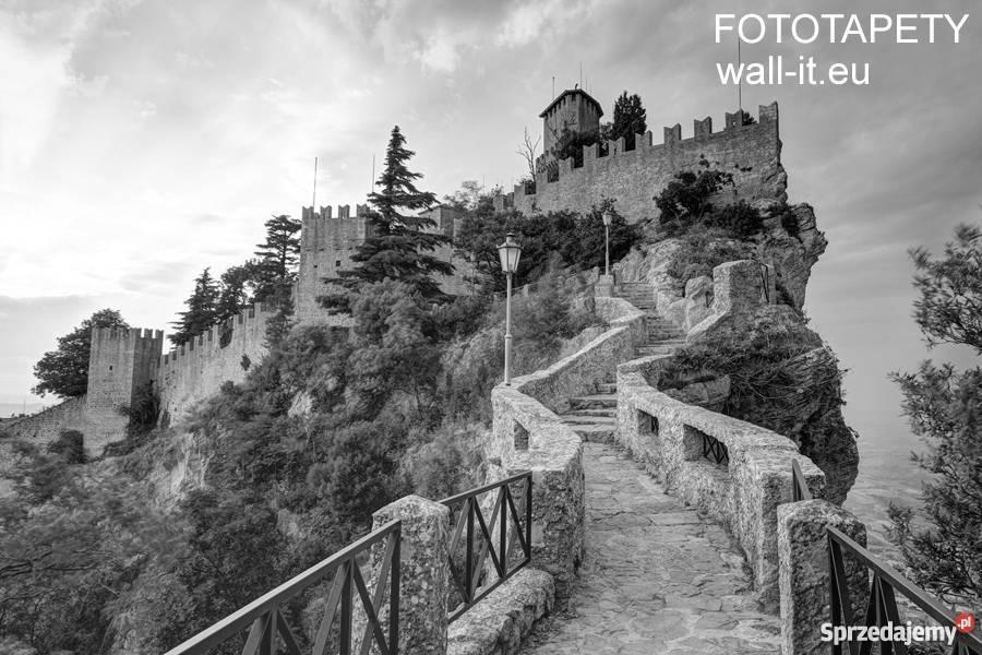 66ae3fcd Fototapety uliczki czarno biała szara widok most Fototapeta