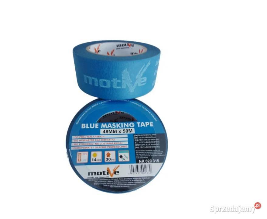 Taśma Malarska, Papierowa BLUE MASKING TAPE 18x50m MOTIVE